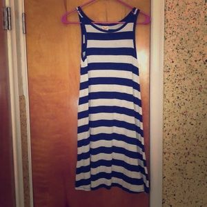 A Blue and White Summer Dress